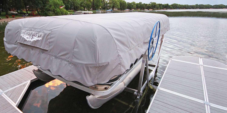 Pontoon Boat Lifts   ShoreMaster