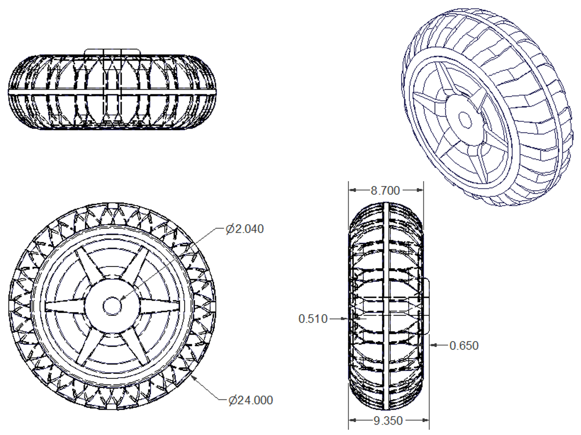 Poly Tire Specifications