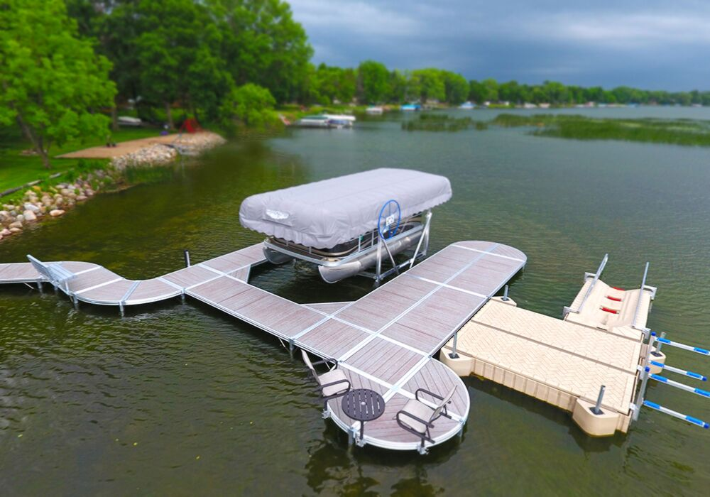 ShoreMaster Infinity RS4 with Gray Oak Woodgrain and PolyDock Products