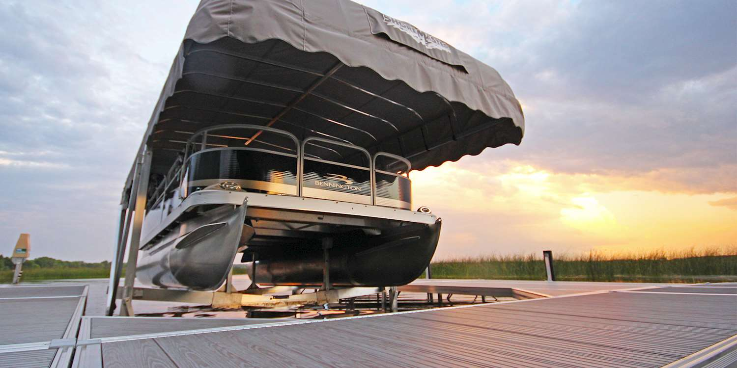 Pontoon Boat Lifts | ShoreMaster