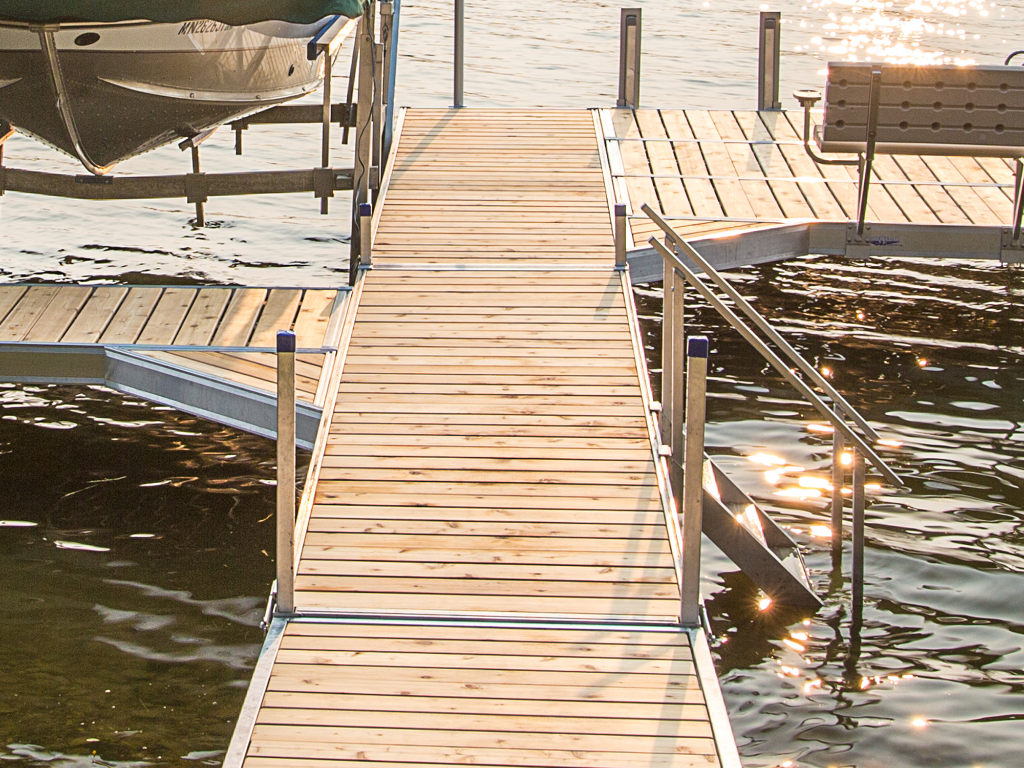 Dock Steps with Handrail | ShoreMaster